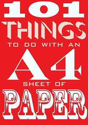 101 Things to Do with an A4 Sheet of Paper, Judith Hannam, New