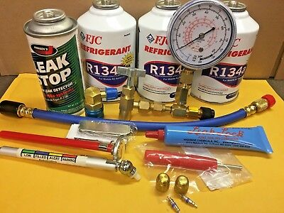 """R134a, REFRIGERANT R134a, """"DO-IT-YOURSELF"""" Recharge KIT-A"""