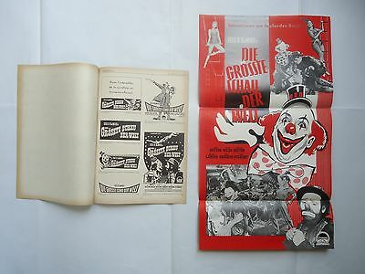 CHARLTON HESTON/THE GREATEST SHOW ON EARTH/.german  press book