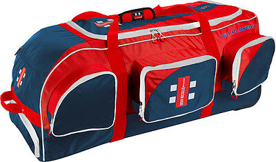 Gray Nicolls Players Cricket Kit Storage Holdall Shoulder Straps Bag Navy-Red