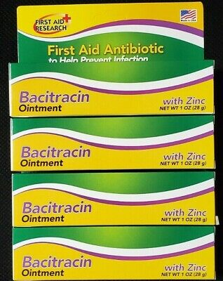 Bacitracin with Zinc Ointment 1 Oz / 28 G (Pack of 4) -FREE WORLDWIDE SHIPPING!!