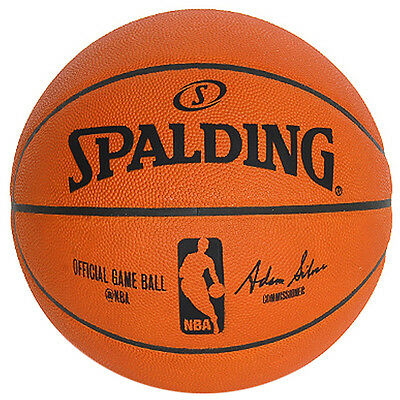 NBA Spalding Basketball Official Match Size 7 Indoor Genuine Game Ball 74-569Z