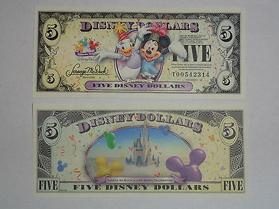 2009 $5 Disney Dollar featuring Daisy and Minnie -  T Series