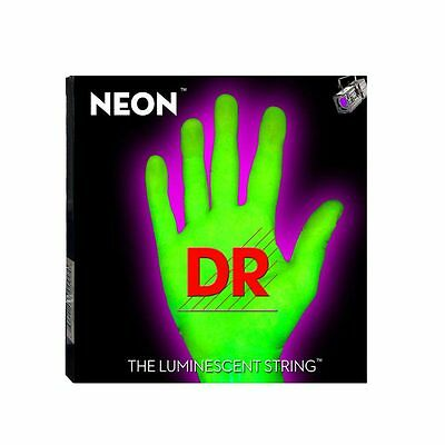 DR NEON NGE-9 Neon Green Luminescent / Fluorescent Electric Guitar strings 9-42