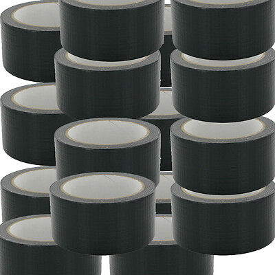 NEW BLACK Gaffa Gaffer Cloth Duck Duct Tape 48mmx50m Weatherproof PACKAGING UK56