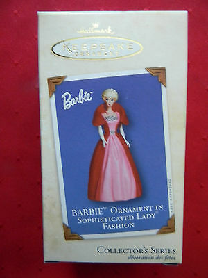 Hallmark Keepsake Ornament Collector's Series Barbie, Sophisticated Lady Fashion