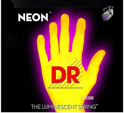 DR NEON NYE-11 Neon Yellow Luminescent/Fluorescent Electric Guitar strings 11-50
