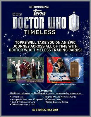 Topps 2016 Doctor Who Timeless - Basic Trading Card Set