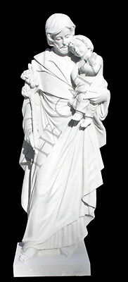"St. Joseph 60"" Marble Church or Cemetary Statue, Religious"
