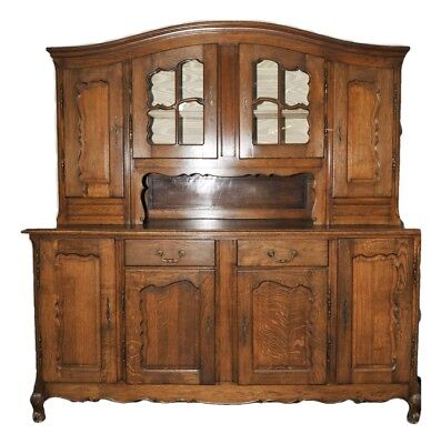 Antique French Country Cabinet Dining Room Furnishings Oak Original Patina