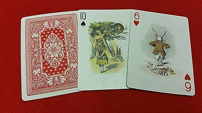Alice in Wonderland Colour Collectors Vintage Antique Illustration Playing Cards