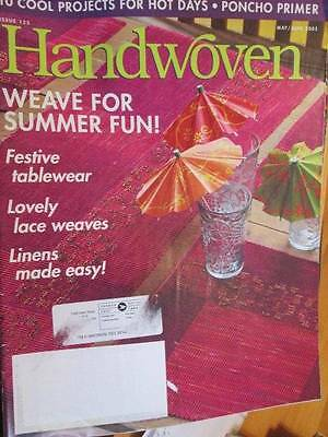 Hand Woven Magazine #125 May/June 2005-10 Projects- Poncho, Linens, Placemats,