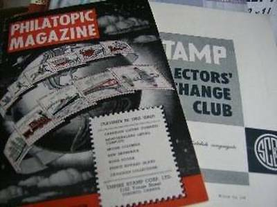 Canadian Stamp Collecting 1950's Magazines -Philatopic Magazine, Stamp Collector