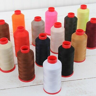 Bonded Nylon Thread #69 Upholstery Canvas Leather 1650Yd Cones Tex70 26 Colors