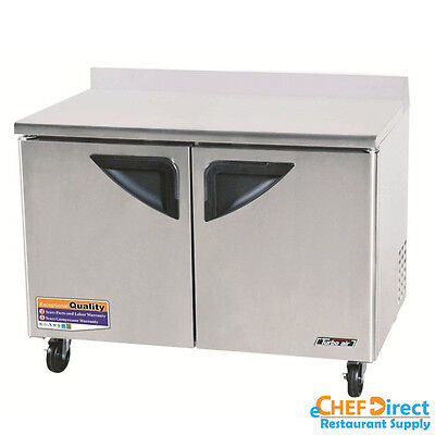 "Turbo Air TWR-48SD Super Deluxe 48"" Double Door Worktop Refrigerator"