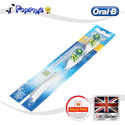 New Oral-B CrossAction Power Replacement Brush Heads Soft UK Stock