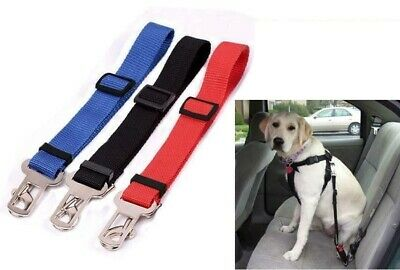 Dog Safety Adjustable Seat Belt Lock Clip Attachable For Car Van Pet Lead UK