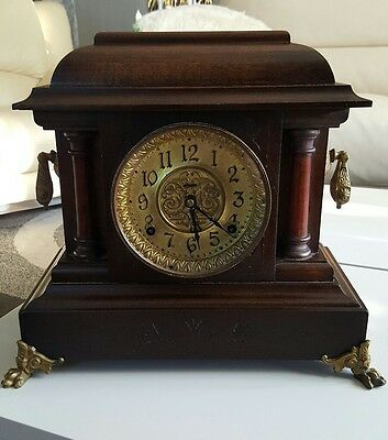 "Antique E. Ingraham 8-day half-hour strike ""Cathedral Gong"" Mantel Clock"
