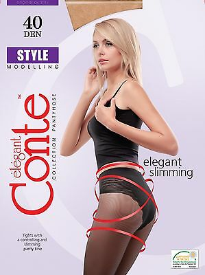 LOT of 5 Packs CONTE Womens Tights Quality Classic Low Rise TOP 40 Den S M L