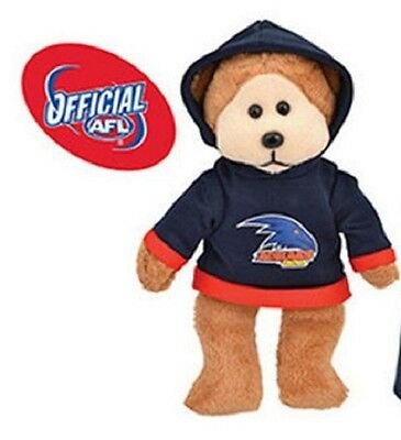 Official AFL Beanie Kid - Adam The Adelaide Crows Bear 2015 with Hoody - BNWT
