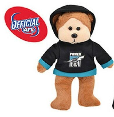 AFL Beanie Kid - Paul The Port Adelaide Power Bear 2015 with Hoody - BNWT