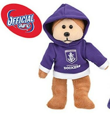 AFL Beanie Kid - Franky The Fremantle Dockers Bear 2015 with Hoody - BNWT