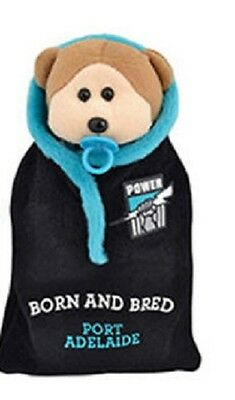 AFL Beanie Kid - Paul The Port Adelaide Power Bear 2015 with Onesie - BNWT