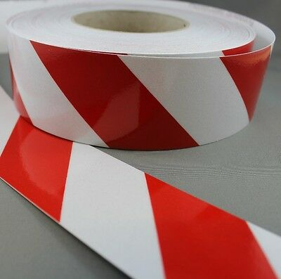 3M Red/White Class 2 (3200 Series) Reflective Tape 50mm x 45.7m LEFT