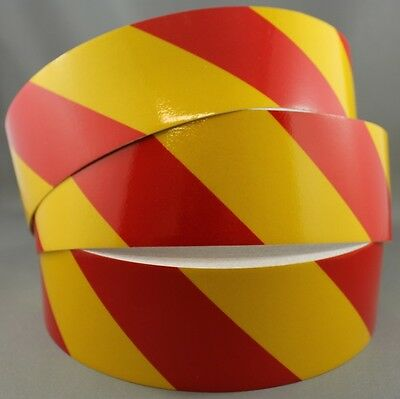 3M Yellow/Red Class 2 (3200 Series) Reflective Tape 50mm x 10m LEFT