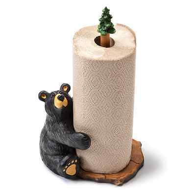 New Big Sky Carvers Bearfoots Bear Figurine - Brawnie Bruin Paper Towel Holder