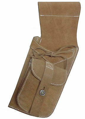 Traditional Fine Suede Tanned Side Hip Quiver Archery Products  Aq119  L- Hand