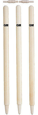 Gunn And Moore Cricket County Bails & Wickets Set Of 6 Stumps Senior Or Junior