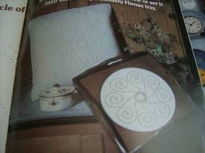 "Dots To Knots Candlewicking Craft Book With 4 Iron-On Designs For 16"" Pillows"