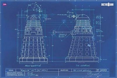 """1art1 55195, Poster """"Doctor Who: Dalek"""", 91 x 61 cm, colore: NUOVO"""
