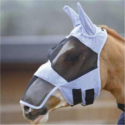 FREE & FAST POSTAGE Full Face FLY Mask  ZIP-OFF NOSE  SZ Ex-P-Pony-Cob-Full-X/F