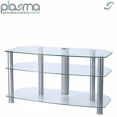 """Alphason Clear Glass TV Stand for up to 42"""" TVs"""