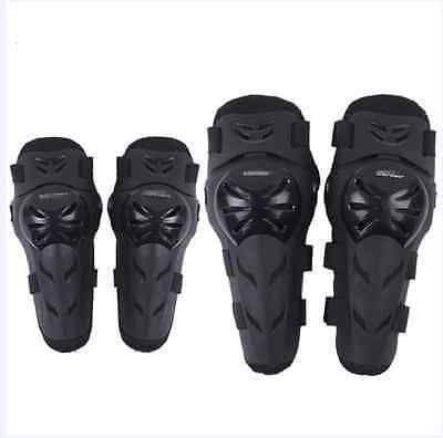 4 Pcs Kit Adult Elbow Knee Armor Gear Guard Pads Protector For Motorcycle Bike