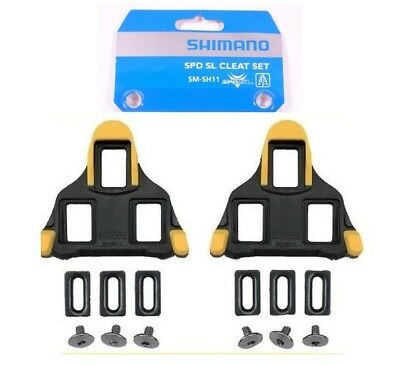 Genuine Shimano SPD-SL Road Cleats Set (SM-SH11) -Floating- Yellow