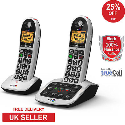 BT 4600 Big Button Twin DECT Cordless Phone with Advanced Call Blocker