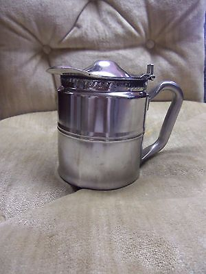 Vintage Williamsburg Lodge Legion Utensils Stainless Steel Tea Or Syrup Pitcher