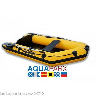 A0599 Tender Aquaparx Rib230 Yellow Carpfishing Spinning Mare Lago Pesca Gommone