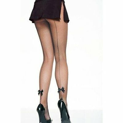 Collant Resille Noir Effet Couture Noeud SEXY BAS NEUF