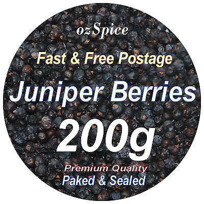 Juniper Berries 200g - Herbs Teas Chillies & Spices - ozSpice