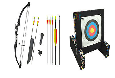 ASD Child Archery Black Striker Compound Bow Package W/ Target & Feet, Arrows