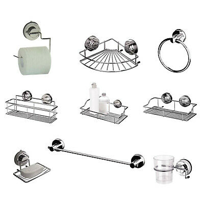 Gecko Stainless Steel Suction Turn & Lock Screwless Bathroom Accessories NEW