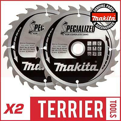 Makita B-09167 Specialized Cordless Saw Blade 165 X 20 X 24 Teeth For BSS610 X2