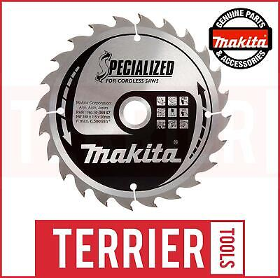 Makita B-09167 Specialized Cordless Saw Blade 165 X 20 X 24 Teeth For DSS611 X1