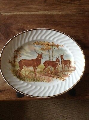 Liverpool Road Pottery Deer And Stag Plate