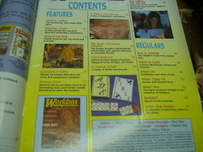 Workbox UK Craft Magazine J/J 1998 Bulgarian Textiles, Durham Quilting Hardanger