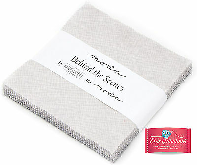 """Moda Charm pack 42 of 5"""" squares in Behind The Scenes Fabric Colours 100% Cotton"""